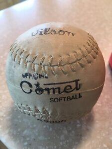 NIB! 1940s Collectible Wilson Comet Baseball Softball in the Original Box.