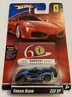 2007 Hotwheels Ferrari Racer 333 SP LM Race Car Blue 12/24 60th Anniversary MOC!