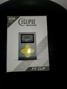 ECLIPSE 4GB MP3 Player (Silver/Yellow) With Fit Clip NIB
