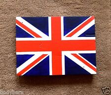 Union Jack GB Flag Theme Handmade Reclaimed Pallet Sign Hand Painted Wall Plaque