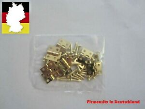 10 Stück Messing Mini-Scharniere 8 x 10 mm mit Nägeln Modellbau Schmuck Holzkast