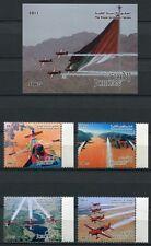 Jordania jordan 2011 aeronaves militares Aircraft Airplanes 2160-63 + bl.145 mnh