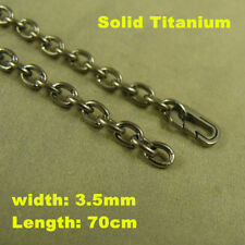 """Pure Titanium 3.5mm O shaped chain anti-allergy Necklace length 27.5"""""""