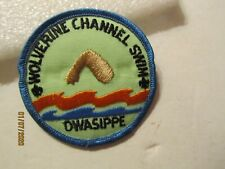 Boy Scout of America 1960's Wolverine Channel Swim Owasippe Camp Mich Patch