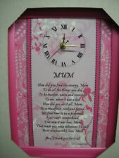 Mother/Mum/Mom Wall Clock IDEAL MOTHERS DAY GIFT/BIRTHDAY