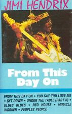 From This Day On by Jimi Hendrix Audio Cassette 1985 Richmond Rhythm & Blues
