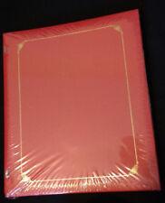 Creative Memories Red 9 x 10.5 Album NIP Gold Scrapbook Album