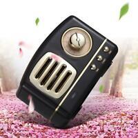 Retro Mini Bluetooth Lautsprecher Vintage Wireless Stereo TF Karten Radio F Y8B3