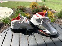 Nike Air Jordan V 5 GS Retro White Fire Red Black Sneakers 440888-100