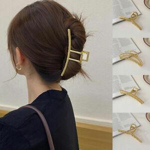 Vintage Girl Hair Clip Large Geometric Claw Clip Metal Barrette Hair Accessories