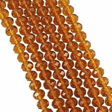 Wholesale Faceted Rondelle Crystal Glass Beads 4x3mm 6x4mm 8x6mm 10x8mm 12x10mm