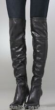 $350 Juicy Couture GIGI Over The Knee Black Leather BOOTS Womens 8.5 New in Box