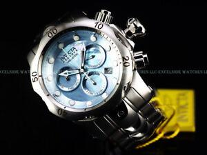 Invicta Reserve 52mm Venom Swiss Chrono Blue Cloudy Dial Bracelet SS 1000M Diver