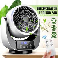 Mini Air Circulator Cooling Fan Timing Remote 3 Speeds Energy-Saving Fan  h