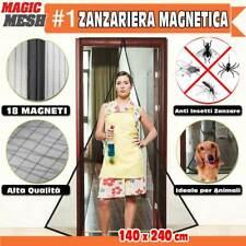 Zanzariera Magnetica Universale 140 x 240 cm Nero 18 Magneti Tenda Magic Mesh