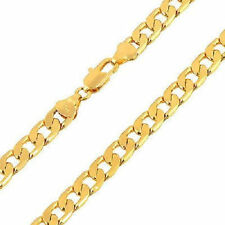 Mens Jewelry 24k Solid Gold Filled Cuban Necklace 500 mm Thick Heavy Long Chain