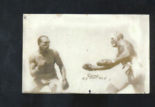 REAL PHOTO JACK JOHNSON BOXING MATCH VS JEFFRIES BOXER POSTCARD COPY SPORTS