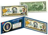 JIMMY CARTER * 39th U.S. President * Colorized $2 Bill US Genuine Legal Tender