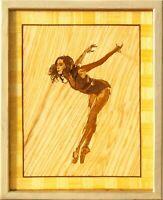 Ballerino di danza classica 21x17 mosaici in legno con cornice artistica...