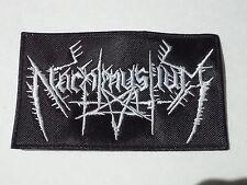 NACHTMYSTIUM EMBROIDERED LOGO BLACK METAL PATCH