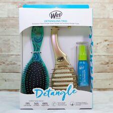 NEW! Wet brush Detangling Trio Set, 2 Brushes and Detangling Spray