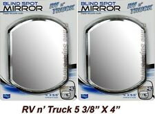 2 NEW SIDE AUXILIARY BLIND SPOT WIDE VIEW MIRRORS X LARGE REARVIEW RV VAN TRUCK