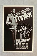 Michael Jackson Thriller Concert Poster 1983