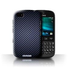 Stuff4 Phone Case/back Cover for Blackberry Leap /carbon Fibre Effect/pattern Blue