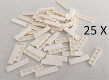 LEGO® Tile, 1 X 4 White 25 X Bricks of Part 2431 MOC
