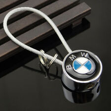 For BMW Wire Rope Key Chain Metal Key Ring Fashion New Car Logos