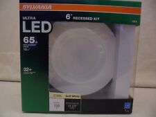 """2-LED 6"""" Recessed Kit-Indoor/Outdoor Wet Rated-Dimmable-Sylvania Ultra-Wide 65W"""