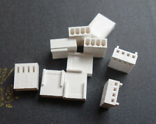 10Pcs White 4-Pin Female Fan Connector Housing Plug 2.54mm Pitch PC Mod Molex