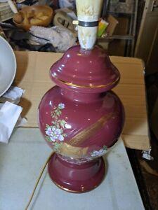 Large ceramic table lamp Rewire