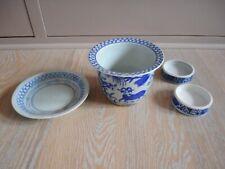 ceramic ceramique porcelain plate chine china chinese pot assiette bleu blue