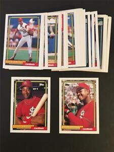 1992 Topps St. Louis Cardinals Team Set With Traded 33 Cards