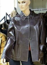 MICHAEL KORS COUTURE BERGDORF GOODMAN BROWN LEATHER JACKET 12 M NWT $2,695
