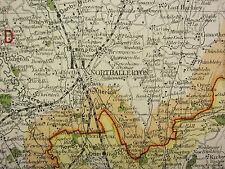 1920 COUNTY MAP of NORTH WEST YORKSHIRE RICHMOND RIPON SKIPTON RAILWAYS