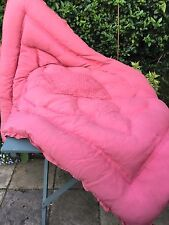 Vintage preloved Early 20TH C Feather (Comme Eider Down) Couette-Rose Unique