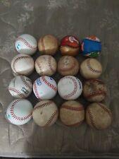 Lot of 16 Well Used Baseballs Fielding Batting Practice Balls