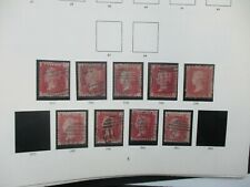 UK Stamps: Penny Red Varieties Used   - FREE POST  (T100)