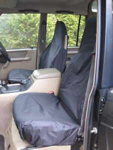 Black Tailored Waterproof Seat Covers Front 2 for Land Rover Discovery Series 1