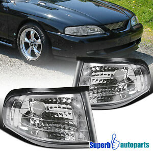For 1994-1998 Ford 94-98 Mustang SVT GTS GT Corner Lights Turn Signal Lamps