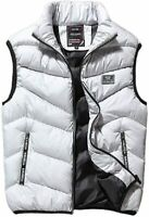 Chartou Mens Outdoors Casual Stand Collar Quilted Puffer Short Vest Waistcoat