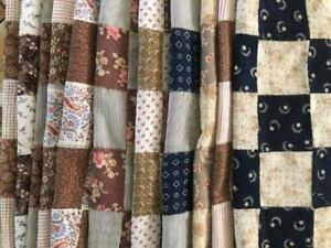 ~Back In Time Textiles~Antique cutter quilt top blocks lots of calicos
