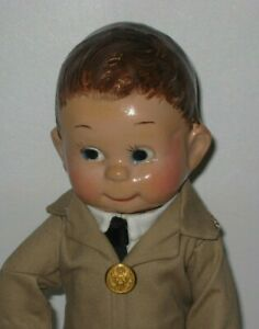 """1930's Unmarked Character Googly Eyes Composition 13"""" tall Doll #DE166"""