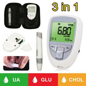 3 in 1 Cholesterol Blood Glucose Meter Diabetic ing Monitor Glucometer  UK! U3