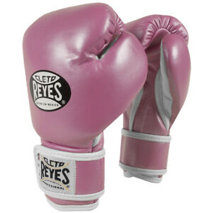 Cleto Reyes Youth Hook and Loop Boxing Gloves - Pink