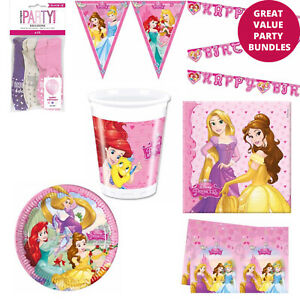 Disney Princess Belle Birthday Party Decorations Bundle Party Tableware Set Pack