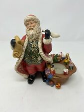 Partylite Christmas Santa Checking His List Candle Holder Discont. Rare Style!