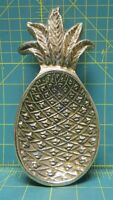 Vintage Solid Brass Pineapple Fruit Trinket Jewelry Coin Dish 7.75 x 3.5""